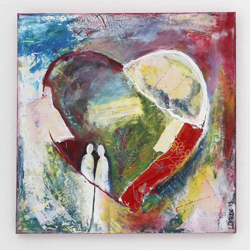 Hart schilderij naar aanleiding van Spreuken 4:23